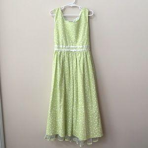 Jona Michelle Lt Green & White Floral Dress Size 8